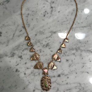 Kendra Scott rose gold Havana statement necklace